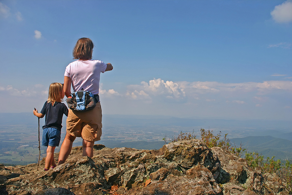 Hiking in the Shenandoah National Park and surrounding blue ridge is popular from Charlottesville, VA