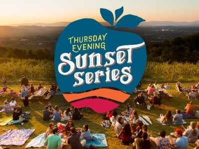 Carter Mountain hosts their sunset series each Thursday in Charlottesville, Virginia