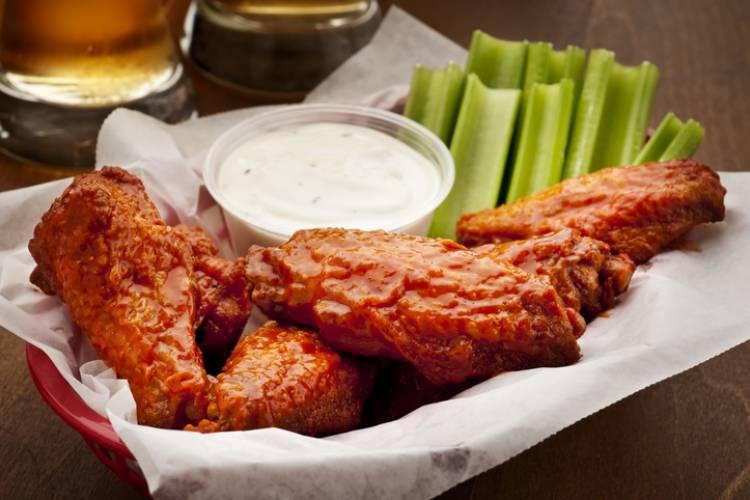 A basket of chicken wings