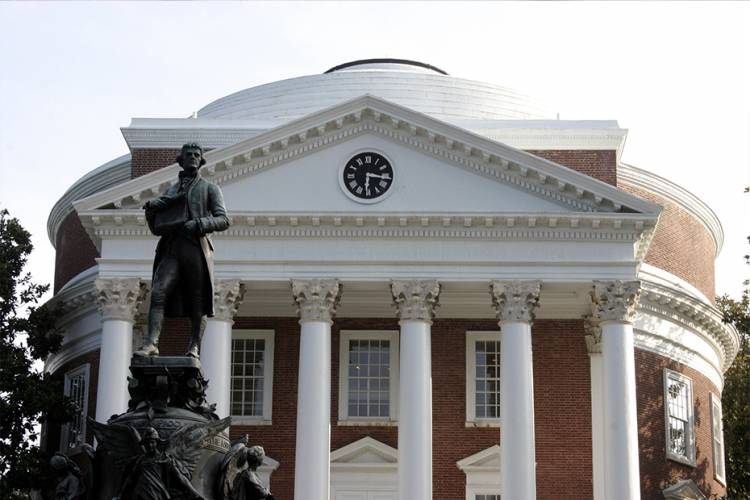 UVA Rotunda - Come to Charlottesville, VA for many University events and walk from a Guesthouses property
