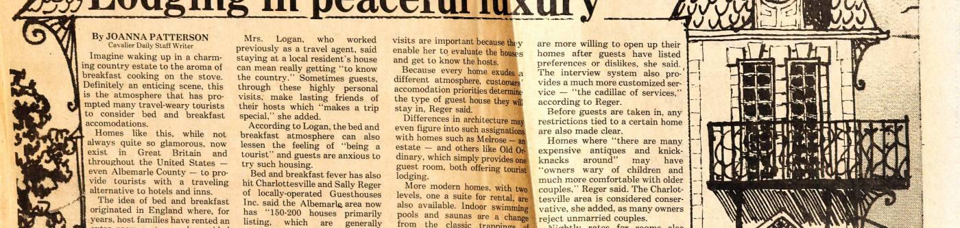 Guesthouse original newspaper article